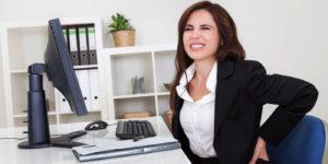 Sedenje, sedenje na poslu, bol zbog sedenja